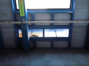 駐輪場 鋼製建具入替工事